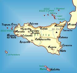 Sicily malta map