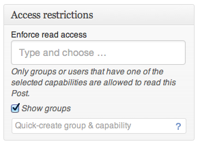 Groups-Access-Restrictions