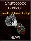 Shuttlecock Grenade