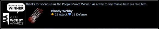 Bloody webby screenshot