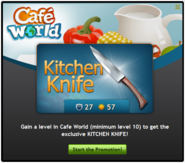 Kitchen Knife start