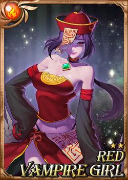Red Vampire Girl full card
