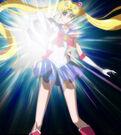 Sailor Moon Crystal Sailor Moon using the Silver Crystal power