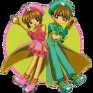 Card Captor Sakura Sakura and Syaoran pose3
