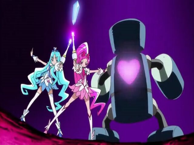 File:Heartcatch Pretty Cure! Cure Blossom and Cure Marine finishing the Floral Power Fortissimo attack.jpg