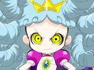 Powerpuff Girls Z Princess Morebucks in her transformation (white hair)