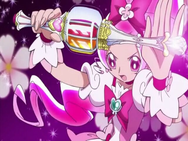 File:Heartcatch Pretty Cure! Cure Blossom with her Blossom Tact.jpg