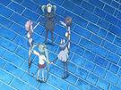 Sasami Mahou Shoujo Club Sasami, Misao, Makoto, Tsukasa and Anri using their magic5