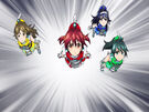 Vividred Operation Akane, Aoi, Wakaba and Himawari