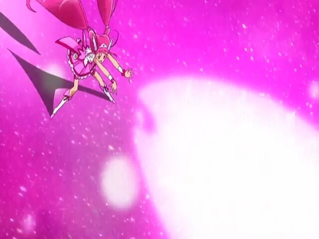 File:Smile Pretty Cure! Cure Happy using the Happy Shower attack.jpg