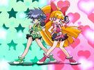 Powerpuff Girls Z Blossom and Buttercup transformation pose