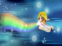 Princess Kenny using her rainbow powers