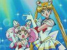 Sailor Moon SuperS Sailor Moon and Chibi Moon speech