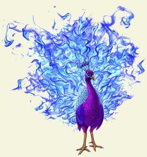 Royal Peacock Phoenix Art