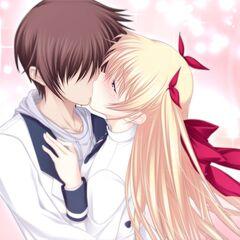 Yamato and Chris kiss (Chris route)