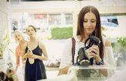 Evie shopping