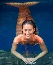 Evie as mermaid