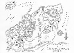 Map Lands of Fist