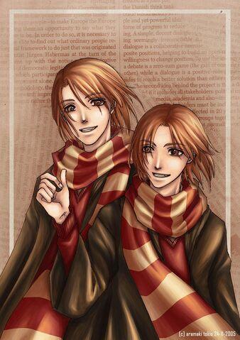 File:Weasley twins by aramaki.jpg