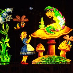 Alice in Wonderland with the Caterpillar (Lit Up).