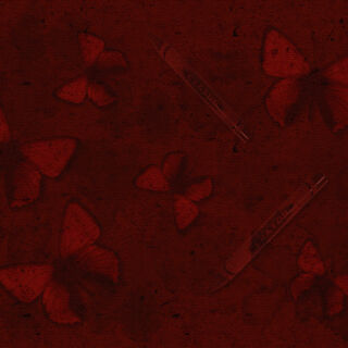 Red Crayon and Butterfly wallpaper.