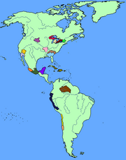Map of the New World in 1492
