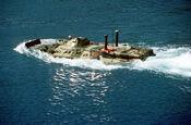 BTR-80 swimming