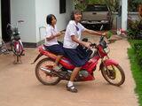 Schuluniform.Thailand-Dom und Ming