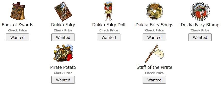 Dukka Fairy Items