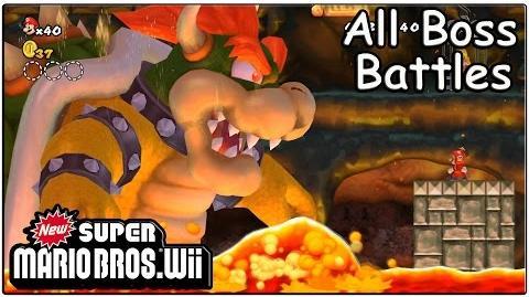 New Super Mario Bros Wii All Bosses