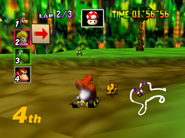 DK's Jungle Parkway - Jungle - Mario Kart 64