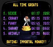 Donkey Kong Country 3 - Ending - Immortal Monkey Trophy