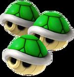 Triple Green Shells Artwork - Mario Kart Wii