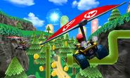 Mario and Peach Gliding - Rock Rock Mountain - Mario Kart 7