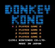 Title Screen - NES - Donkey Kong