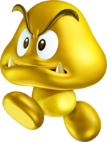 Gold Goomba Transparent