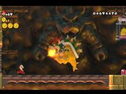 Fire Mario Running from Bowser