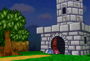 Red Goomba and Blue Goomba Entering the Fortress