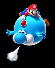 Blimp Yoshi Artwork - Super Mario Galaxy 2
