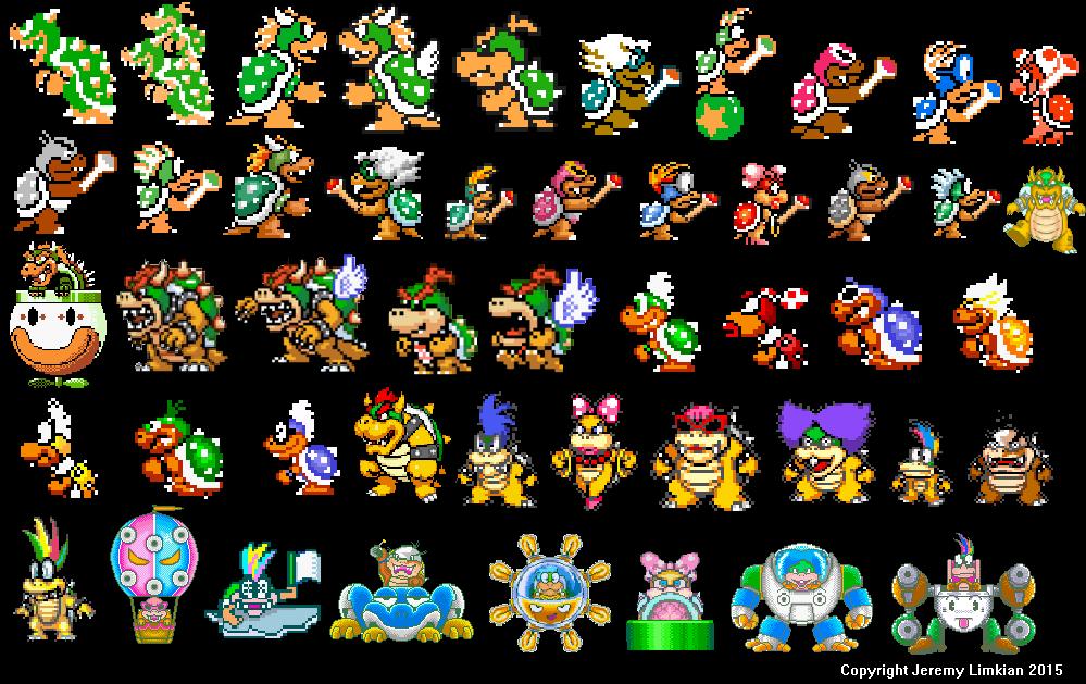 Image Bowser Bowser Jr And The Koopalings Super Mario