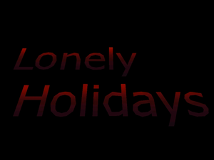 Lonely Holidays Title Screen