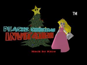 Peach's Christmas Invitation Title Screen