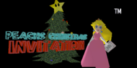 Peach's Christmas Invitation