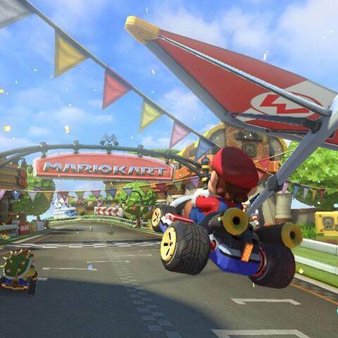 Mario at the finish line.