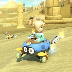 Rosalina drifts at a portion of the track.