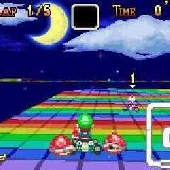 Luigi on the first U-turn.