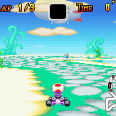 Toad racing through Sky Garden in <i><a href=