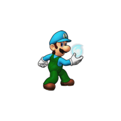 <i>Puzzle &amp; Dragons: Super Mario Bros. Edition</i> Ice Luigi.