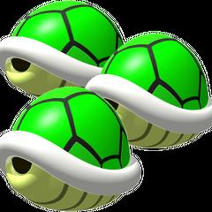 Triple Green Shells (MKDS)