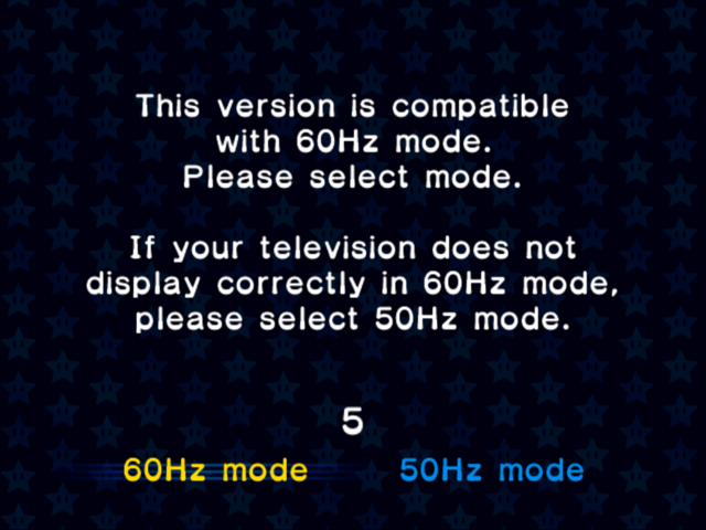File:Mario Kart Double Dash PAL Frame Rate options.png
